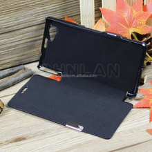 High Quality Leather Magnetic protective leather p Case Cover for Sony Z1 Compact D5503 For Sony Z1 Mini