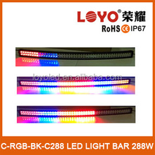 """21.5"""" 120w white yed yellow blue RGB flashing offroad led light bar with RGB controller and screw"""