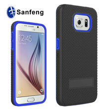 Guangzhou Mobile Accessories Market Factory Price Wholesale Shockproof Stand Case for Samsung S6 Cell Phone Case with Clip