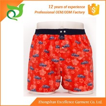 2015 new style 100% Polyester mens woven boxers