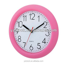 Simple round plastic 10 inch promotional wall clocks