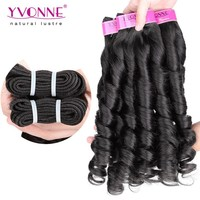 Soft and glossy color 1B grade 4A candy curl all express brazilian hair