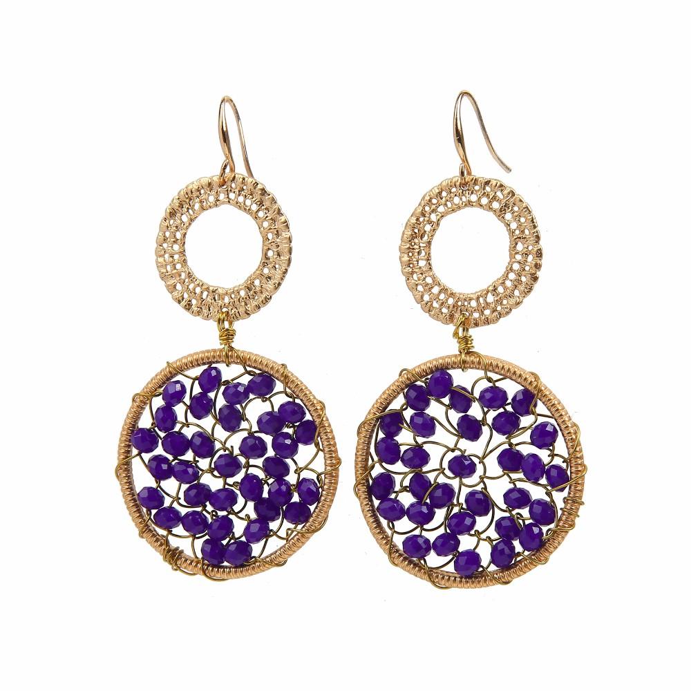 Crochet Hook Earrings: Saudi Gold Jewelry Earring Crochet Hook Earrings