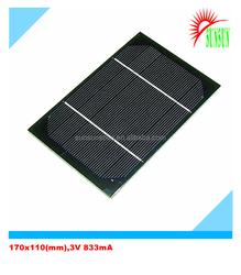 Epoxy resin PET laminated 2.5W 3V 833mA solar panel
