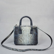 Python snake leather bag_python mini cross body lady bag fashion mini tote bag