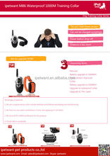 Rechargeable and Waterproof 1000m Dog Training Collar with remote for Medium or Large Dog Private Label
