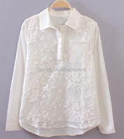 New models blouses fashion women lace tops office uniform designs for women