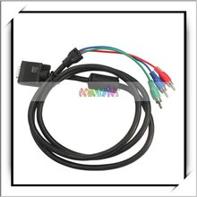 Laptop To TV Cable 1.5M VGA 3 RCA Adapter HDTV (Cable)
