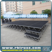 RK Aluminum Waterproof Anti-slip Plywood Outdoor Concert Stage Sale/portable modular stage for sale/promotional stage
