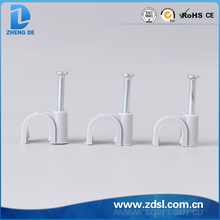 Round Grey Plastic Cable Clips Made In China