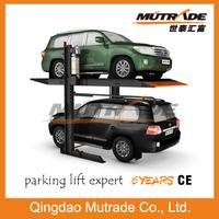2 Post Hydraulic 2 Floor car garage use car parking system