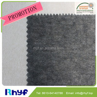 100% Polyester fusible non woven interfacing fabric for enzyme wash