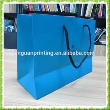 Customized printed paper bag, luxury paper bag, gloss art paper bag
