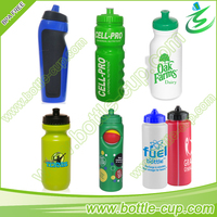 600ml PE plastic sports water bottle bpa free, plastic squeeze water bottle with nozzle