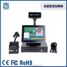 Pos System Terminal All In One Pos machine with 2GB Memory 500HDD