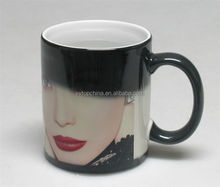 Interesting color changing ceramic mug with custom logo