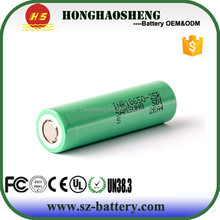 High Drain Power Battery Origianl Rechargeabble Samsung 25R, Samsung INR18650 25R, Samsung 25R 20Amp 18650 Battery