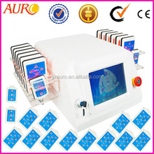 New style 12 big and 2 small blue laser pads Quick slimming laser slimming machine lipoo laser slim beauty machine
