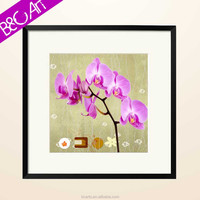 Beautiful wall print paper vivid still life decor pink flower oil painting
