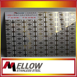 Mellow 1.5Mm Elevator Etched Stainless Steel 1.5Mm Elevator Etched Sheet For Building Use