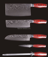 YANGJIANG factory manufacture Elegant cutting knife set damascus steel kitchen knife set