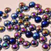 from 1.5mm-20mm fancy 6mm half round ABS fake beads