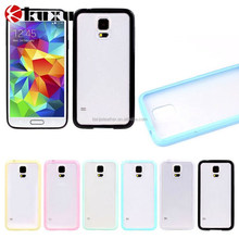 Colorful frame silicone mobile phone case for Samsung galaxy S5