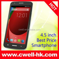Low Price 3G Smartphone Android 4.4 MTK6572A 4.5 Inch IPS Screen 5.0MP Camera 3G WCDMA GSM Dual Sim Smart Phone