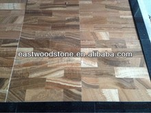 Top lamination Wooden vein marble 3mm+granite 9mm composite tiles