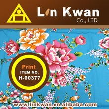 Linkwan LK H-00377 Taiwan tradition style flower bed set cotton printed