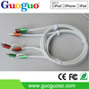 2015 Newest Fashionable TPE Material Mfi Certified 2 in 1 MFI USB Cable For Iphone 5/ 6 /6 Plus /Samsung