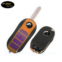 Citroen Flip Key Case For Citroen Flip Key Case With 3 Buttons(Boot) And Battery Holder Car Key Shell