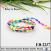 Latest fashion trend handmade woven friendship bracelets for women