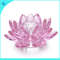 Hot sale Beautiful colorful crystal lotus flower for home decoration