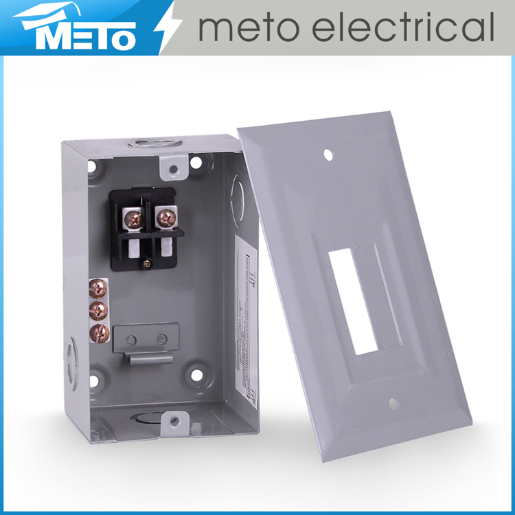 Wall Mount Circuit Breaker : A galvanized steel square d series topping and