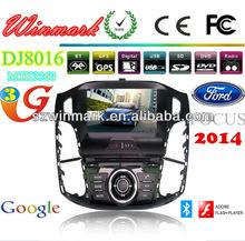 Win CE 6.0 Ford Focus multimedias del coche de la pantalla táctil con cuatro núcleos y CAN-BUS, USB, BT, GPS, Radio, 3G, TDT, AU