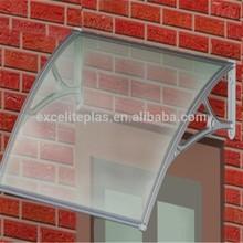 protezione uv lastra di policarbonato tende da sole in fibra di vetro