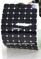 flexible RV solar panel system, semi flexible solar panel with sunpower cells