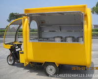 3 wheel cargo electric tricycle food cart