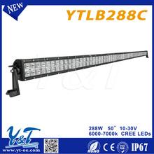 Y&T 288W 50 inch india price led light bar truckled offroad light bar for Trucks, UTV, ATV, SUV, Boats