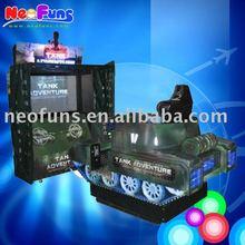 Shooting game, video game Tank Adventure simulator machine