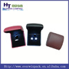 Black leather ring box with led light inside wholesale