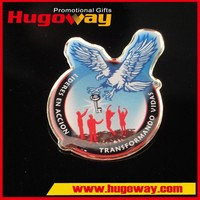 high quality custom design metal eagle pin badge/3d animal lapel pin