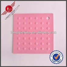 Drink Coasters Heat Resistant Pink Kitchen Silicone Plate Mats