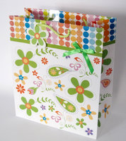 New design spring paper bag/colorful printing paper bag
