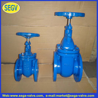 slurry gate valve DIN PN 10 PN16 cast iron gate valves