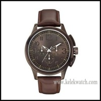 W0067G4 Mens JOURNEY Multifunction Brown Leather Watch 3 years WTY,Rose Gold watches with Multifunction Quartz