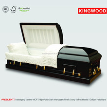 PRESIDENT wood coffin craft jewish funeral