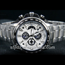 Elegant Silver Skeleton Dial Men Windup Mechanical Wrist Mans Watch