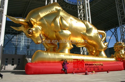 15m Promotion!!!event exhibition inflatable/giant inflatable bull/replica/model/golden/for event trade/event advertising W983
